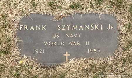 SZYMANSKI, FRANK - Lucas County, Ohio   FRANK SZYMANSKI - Ohio Gravestone Photos