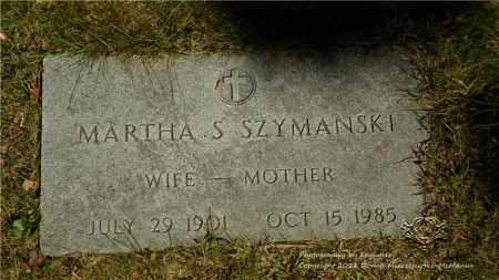 SZYMANSKI, MARTHA S. - Lucas County, Ohio | MARTHA S. SZYMANSKI - Ohio Gravestone Photos