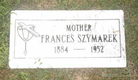 SZYMAREK, FRANCES - Lucas County, Ohio | FRANCES SZYMAREK - Ohio Gravestone Photos