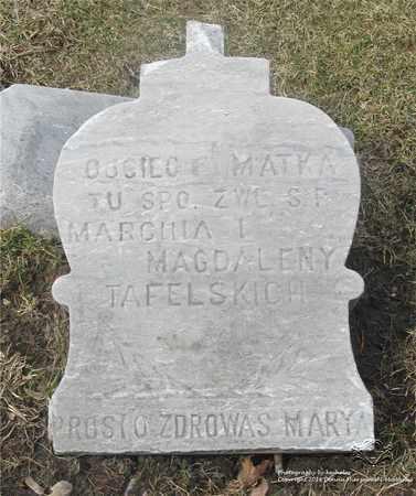 TAFELSKI, MAGDALENA - Lucas County, Ohio | MAGDALENA TAFELSKI - Ohio Gravestone Photos