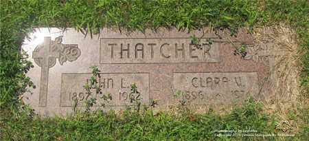 THATCHER, CLARA V. - Lucas County, Ohio | CLARA V. THATCHER - Ohio Gravestone Photos