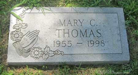 THOMAS, MARY C. - Lucas County, Ohio | MARY C. THOMAS - Ohio Gravestone Photos