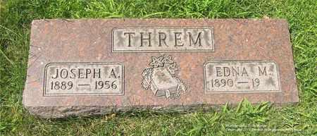 THREM, JOSEPH A. - Lucas County, Ohio | JOSEPH A. THREM - Ohio Gravestone Photos