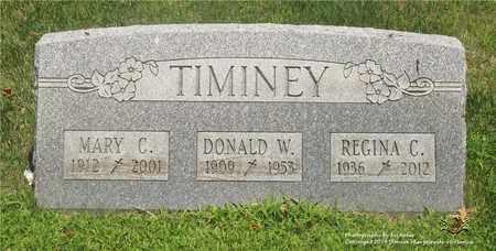 TIMINEY, REGINA C. - Lucas County, Ohio | REGINA C. TIMINEY - Ohio Gravestone Photos