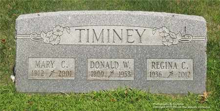 TIMINEY, DONALD W. - Lucas County, Ohio | DONALD W. TIMINEY - Ohio Gravestone Photos