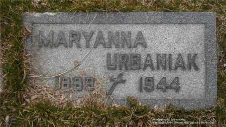URBANIAK, MARYANNA - Lucas County, Ohio | MARYANNA URBANIAK - Ohio Gravestone Photos