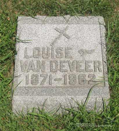 VAN DEVEER, LOUISE - Lucas County, Ohio | LOUISE VAN DEVEER - Ohio Gravestone Photos