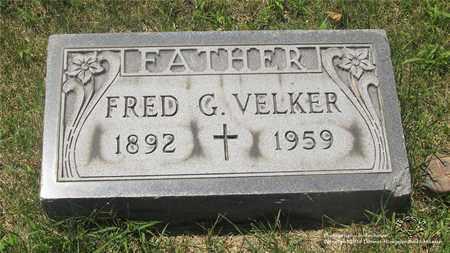 VELKER, FRED G. - Lucas County, Ohio   FRED G. VELKER - Ohio Gravestone Photos