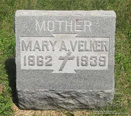 VELKER, MARY A. - Lucas County, Ohio | MARY A. VELKER - Ohio Gravestone Photos