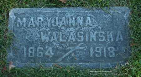 KLASKA WALASINSKA, MARYJANNA - Lucas County, Ohio | MARYJANNA KLASKA WALASINSKA - Ohio Gravestone Photos