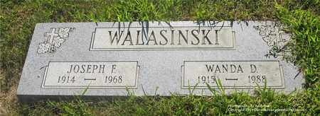 WALASINSKI, JOSEPH F. - Lucas County, Ohio | JOSEPH F. WALASINSKI - Ohio Gravestone Photos