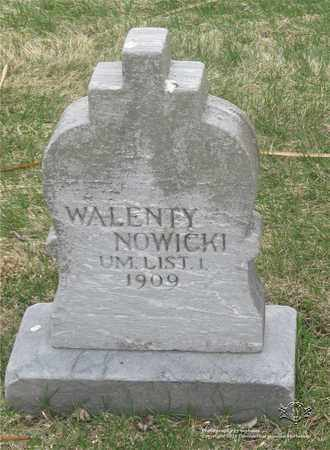 NOWICKI, WALENTY - Lucas County, Ohio   WALENTY NOWICKI - Ohio Gravestone Photos