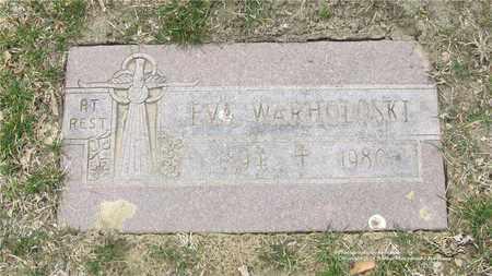 WARHOLOSKI, EVA - Lucas County, Ohio   EVA WARHOLOSKI - Ohio Gravestone Photos