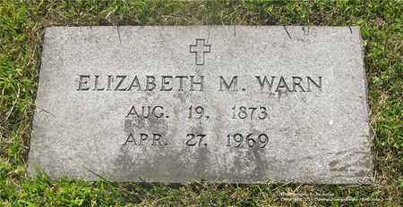 WARN, ELIZABETH M. - Lucas County, Ohio | ELIZABETH M. WARN - Ohio Gravestone Photos