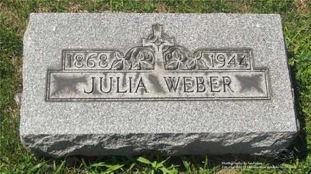 WEBER, JULIA - Lucas County, Ohio | JULIA WEBER - Ohio Gravestone Photos