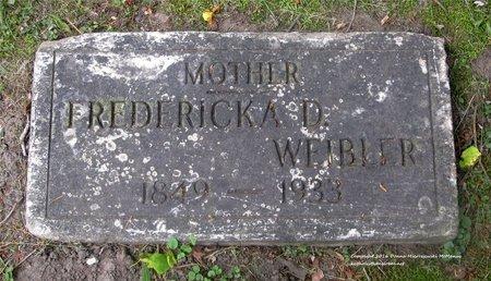BEISSER WEIBLER, FREDERICKA - Lucas County, Ohio   FREDERICKA BEISSER WEIBLER - Ohio Gravestone Photos