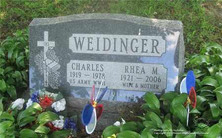 WEIDINGER, CHARLES - Lucas County, Ohio | CHARLES WEIDINGER - Ohio Gravestone Photos