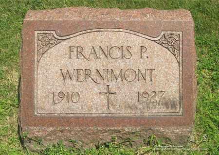 WERNIMONT, FRANCIS P. - Lucas County, Ohio | FRANCIS P. WERNIMONT - Ohio Gravestone Photos