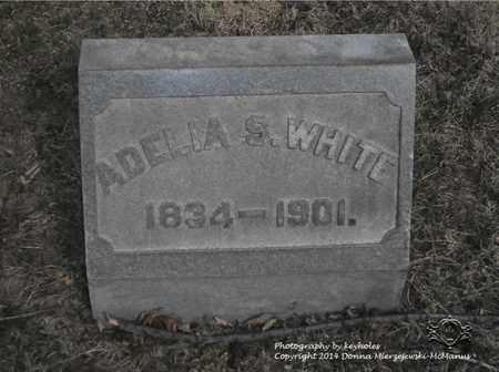 WHITE, ADELIA S. - Lucas County, Ohio | ADELIA S. WHITE - Ohio Gravestone Photos