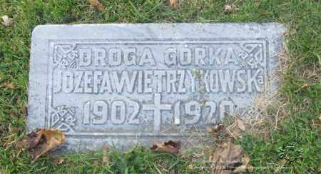 WIETRZYKOWSKI, JOZEFA - Lucas County, Ohio | JOZEFA WIETRZYKOWSKI - Ohio Gravestone Photos