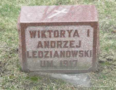 LEDZIANOWSKI, WIKTORYA - Lucas County, Ohio | WIKTORYA LEDZIANOWSKI - Ohio Gravestone Photos