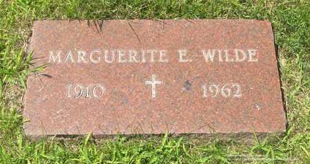 WILDE, MARGUERITE E. - Lucas County, Ohio   MARGUERITE E. WILDE - Ohio Gravestone Photos