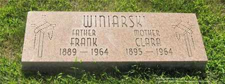 WINIARSKI, FRANK - Lucas County, Ohio | FRANK WINIARSKI - Ohio Gravestone Photos