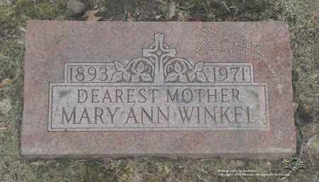 WINKEL, MARY ANN - Lucas County, Ohio | MARY ANN WINKEL - Ohio Gravestone Photos