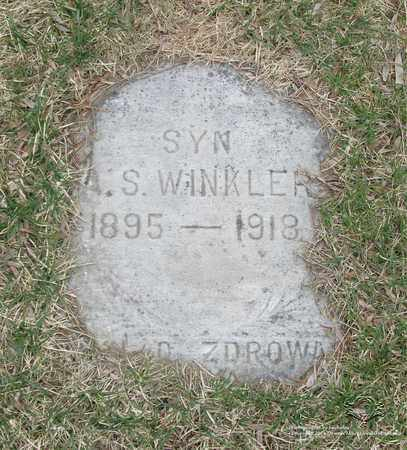 WINKLER, AUGUST S. - Lucas County, Ohio | AUGUST S. WINKLER - Ohio Gravestone Photos