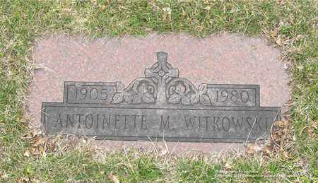 WITKOWSKI, ANTOINETTE M. - Lucas County, Ohio | ANTOINETTE M. WITKOWSKI - Ohio Gravestone Photos