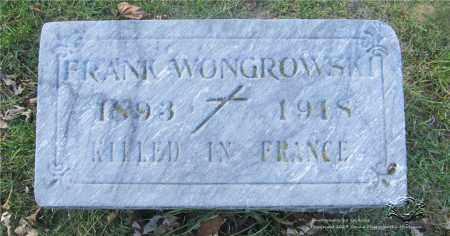 WONGROWSKI, FRANK - Lucas County, Ohio | FRANK WONGROWSKI - Ohio Gravestone Photos