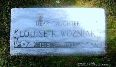 WOZNIAK, LOUISE K. - Lucas County, Ohio   LOUISE K. WOZNIAK - Ohio Gravestone Photos