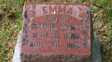 WYATT, EMMA - Lucas County, Ohio | EMMA WYATT - Ohio Gravestone Photos