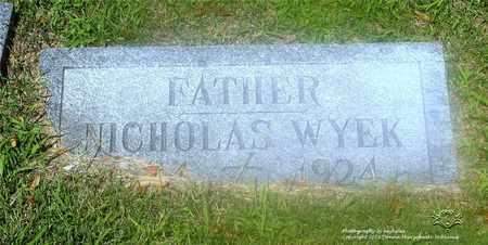 WYEK, NICHOLAS - Lucas County, Ohio | NICHOLAS WYEK - Ohio Gravestone Photos