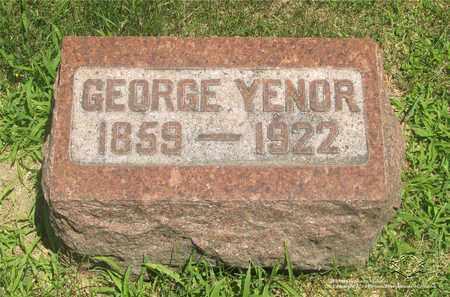 YENOR, GEORGE - Lucas County, Ohio | GEORGE YENOR - Ohio Gravestone Photos