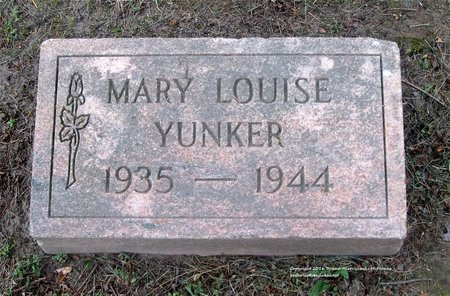 YUNKER, MARY LOUISE - Lucas County, Ohio | MARY LOUISE YUNKER - Ohio Gravestone Photos