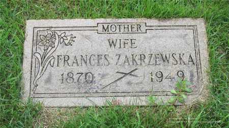 ZAKRZEWSKA, FRANCES - Lucas County, Ohio | FRANCES ZAKRZEWSKA - Ohio Gravestone Photos