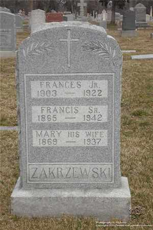 ZAKRZEWSKI, FRANCIS, SR. - Lucas County, Ohio | FRANCIS, SR. ZAKRZEWSKI - Ohio Gravestone Photos