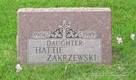 ZAKRZEWSKI, HATTIE - Lucas County, Ohio | HATTIE ZAKRZEWSKI - Ohio Gravestone Photos