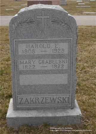 ZAKRZEWSKI, HAROLD E. - Lucas County, Ohio | HAROLD E. ZAKRZEWSKI - Ohio Gravestone Photos