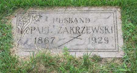 ZAKRZEWSKI, PAUL - Lucas County, Ohio | PAUL ZAKRZEWSKI - Ohio Gravestone Photos