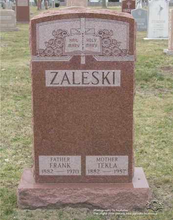 ZALESKI, FRANK - Lucas County, Ohio | FRANK ZALESKI - Ohio Gravestone Photos
