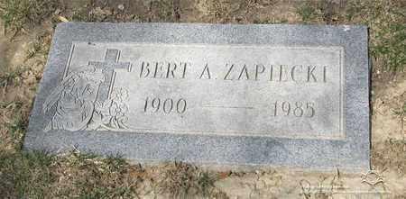 ZAPIECKI, BERT A. - Lucas County, Ohio | BERT A. ZAPIECKI - Ohio Gravestone Photos