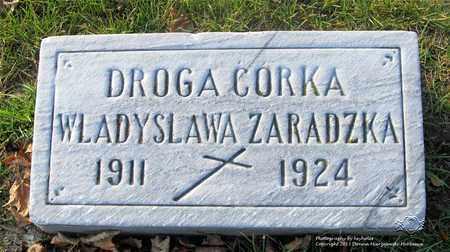 ZARADZKA, WLADYSLAWA - Lucas County, Ohio | WLADYSLAWA ZARADZKA - Ohio Gravestone Photos