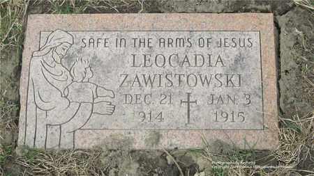 ZAWISTOWSKI, LEOCADIA - Lucas County, Ohio | LEOCADIA ZAWISTOWSKI - Ohio Gravestone Photos