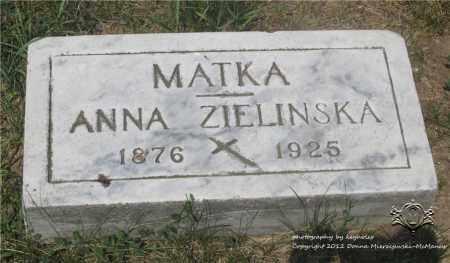 OLSZEWSKI ZIELINSKA, ANNA - Lucas County, Ohio | ANNA OLSZEWSKI ZIELINSKA - Ohio Gravestone Photos