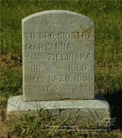 ZIELINSKA, MARYANNA - Lucas County, Ohio   MARYANNA ZIELINSKA - Ohio Gravestone Photos
