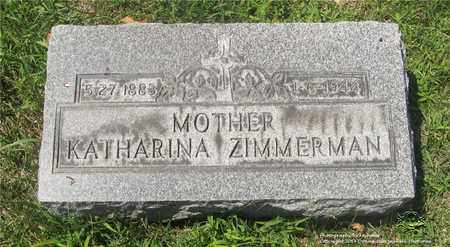 ZIMMERMAN, KATHARINA - Lucas County, Ohio | KATHARINA ZIMMERMAN - Ohio Gravestone Photos