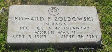 ZOLDOWSKI, EDWARD F. - Lucas County, Ohio | EDWARD F. ZOLDOWSKI - Ohio Gravestone Photos