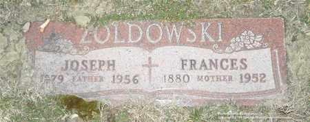 ZOLDOWSKI, FRANCES - Lucas County, Ohio   FRANCES ZOLDOWSKI - Ohio Gravestone Photos
